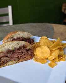 BBQ Tri-Tip sandwich
